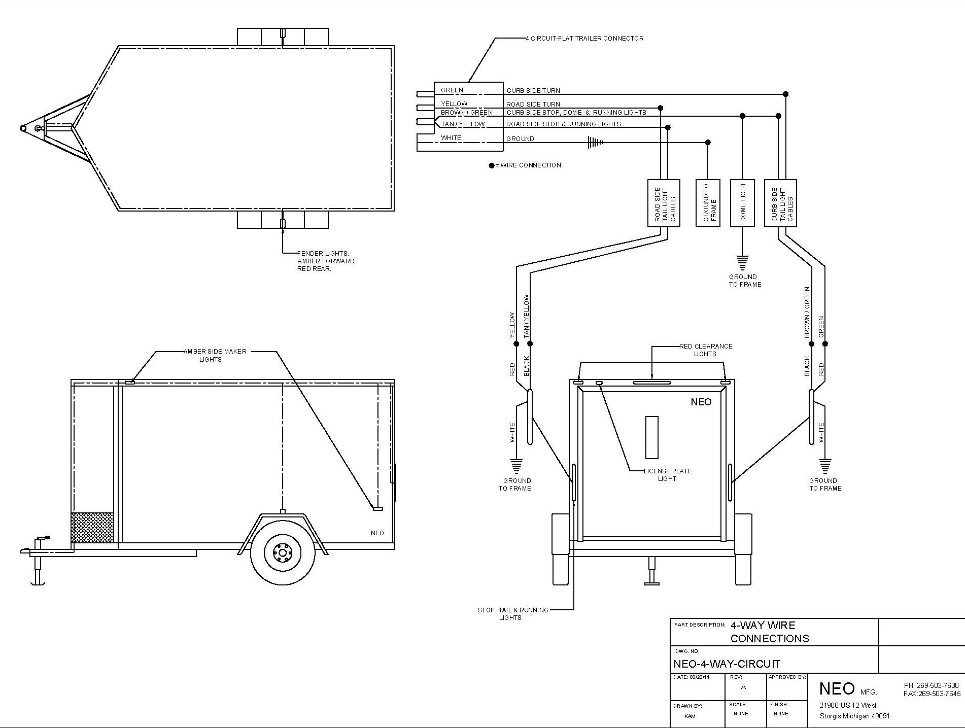 wire4 trailer wiring diagram for 4 way, 5 way, 6 way and 7 way circuits,7 Pin Rv Plug Wiring Diagram