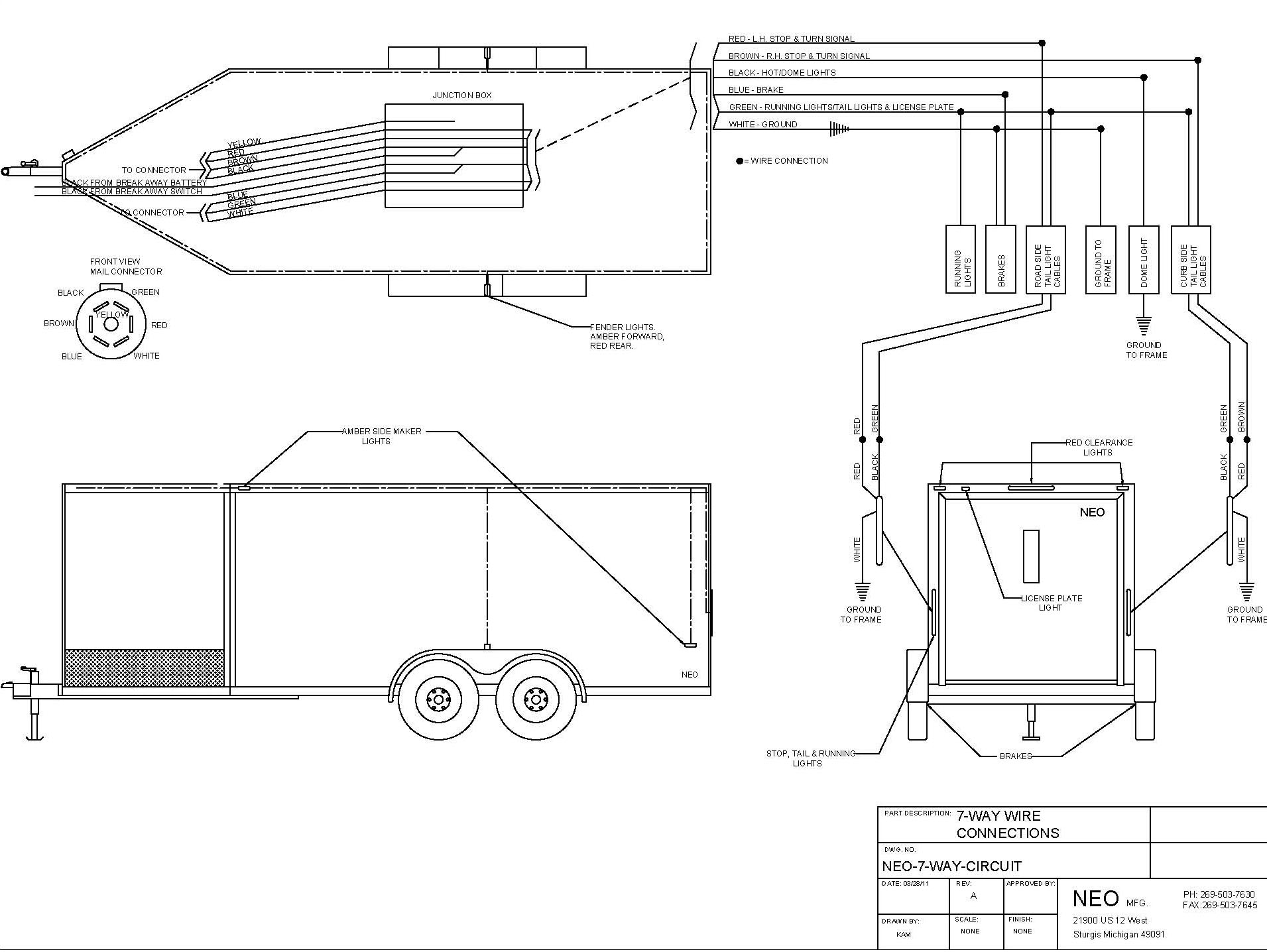 Neo Trailers Manual 6 Hole Trailer Wiring Diagram Wire Circuit